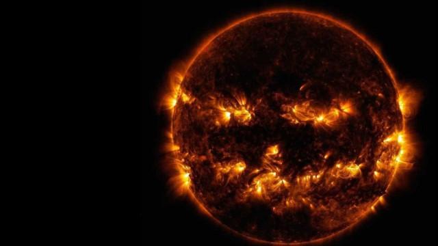 Nasa posta foto 'tenebrosa' do Sol na véspera do Dia das Bruxas