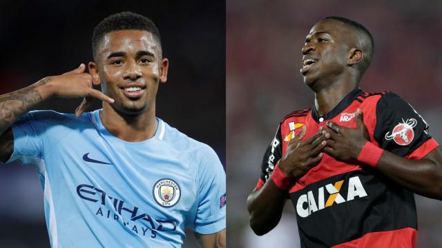 France Football põe Gabriel Jesus e Vinicius Jr. em lista de prodígios