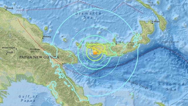 Terremoto de magnitude 7,5 atinge Papua Nova Guiné