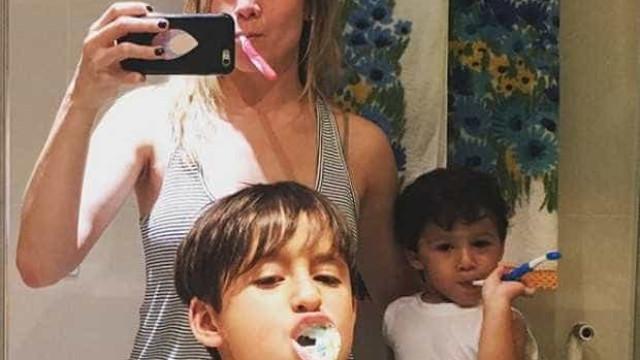 Fernanda Gentil mostra momento íntimo com os filhos: 'Meu ar'