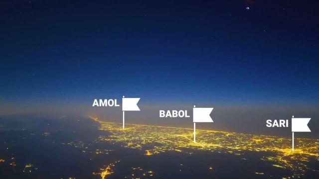 Piloto grava timelapse incrível sobre o Irã