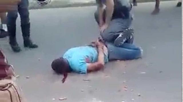 Homem é agredido a tijoladas por PM, dizem testemunhas