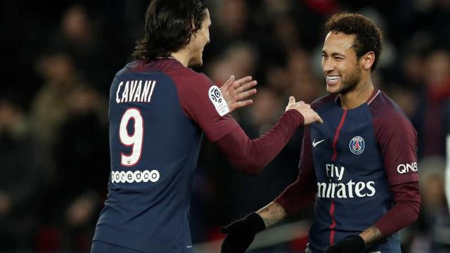PSG goleia Nantes com dois gols de Cavani; Neymar passou em branco