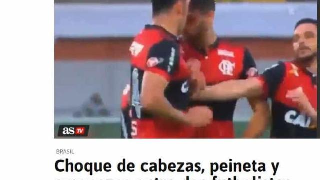 Briga entre jogadores do Flamengo é notícia na Europa e na Argentina