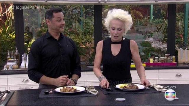 Ana Maria Braga se recusa a comer prato preparado durante o 'Mais Você'