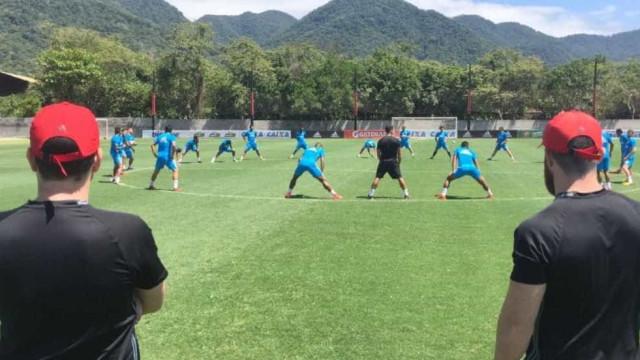 Treino do Sport em CT do Flamengo causa polêmica entre torcidas