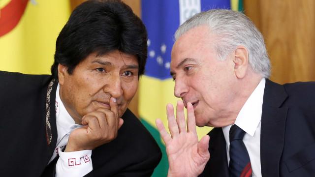 Temer e Morales assinam acordos para segurança e transporte