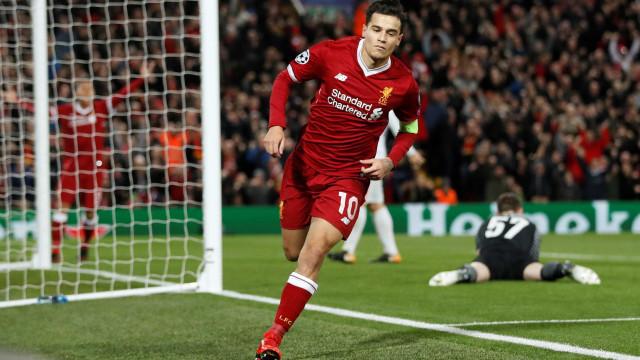 Com show de Coutinho, Liverpool atropela o Spartak na Champions: 7 a 0