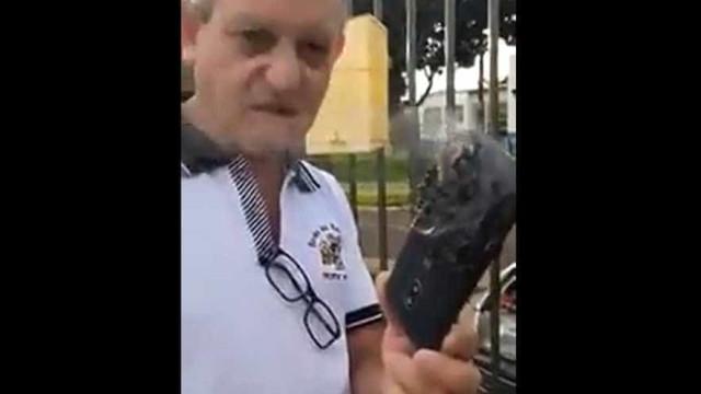 Moto G4 pega fogo dentro do bolso de político em Guaíra, no Paraná