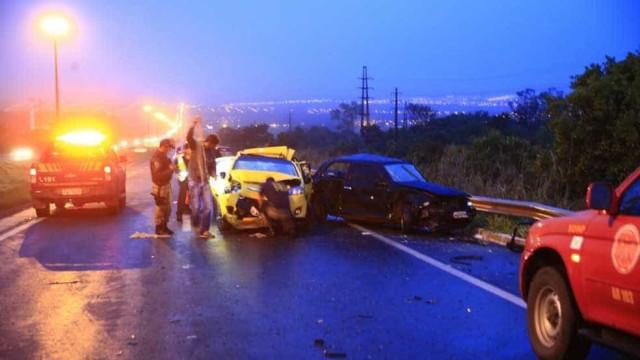 Acidente envolvendo 8 veículos mata um no DF; vídeo