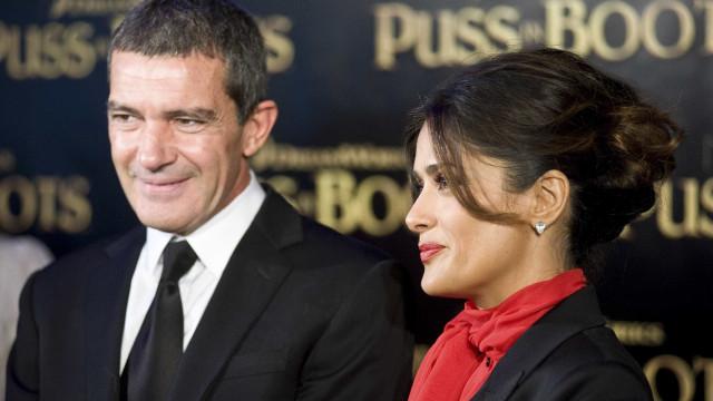 Antonio Banderas ficou 'em choque' com revelações de Salma Hayek