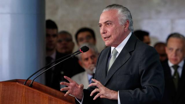 'Ousamos fazer uma revolução na política e na economia', diz Temer