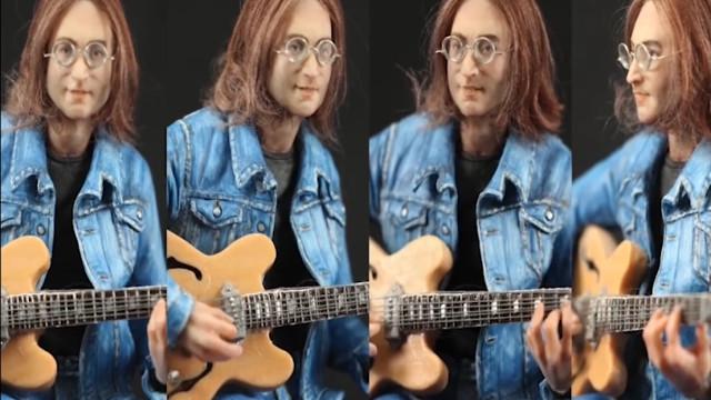 Artista recria John Lennon em escultura impressionante