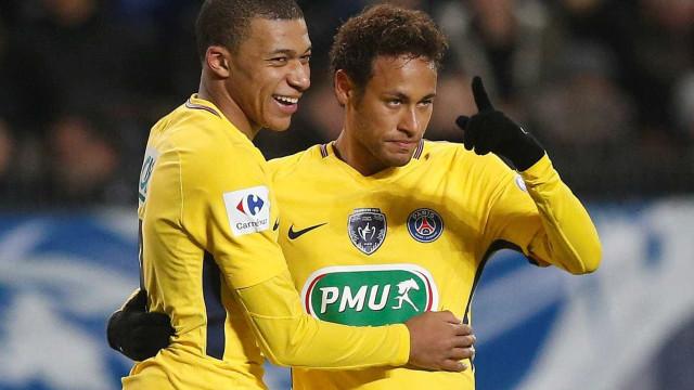 PSG humilha Rennes com dois gols de Neymar, Mbappé e Di María