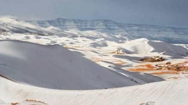 Vídeo incrível mostra deserto do Saara coberto de neve