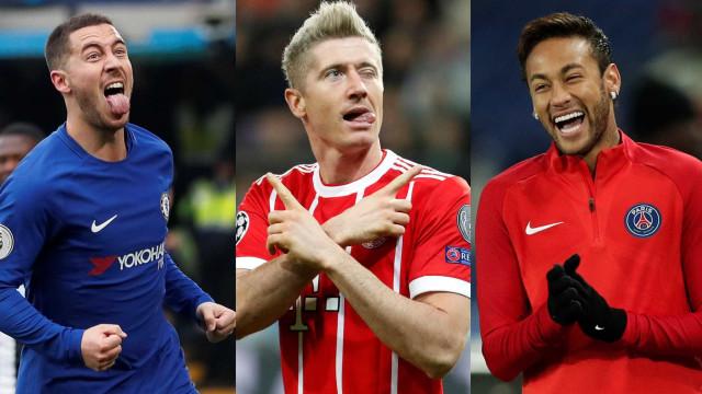 Real Madrid que formar novo trio: Neymar, Lewandowski e Hazard