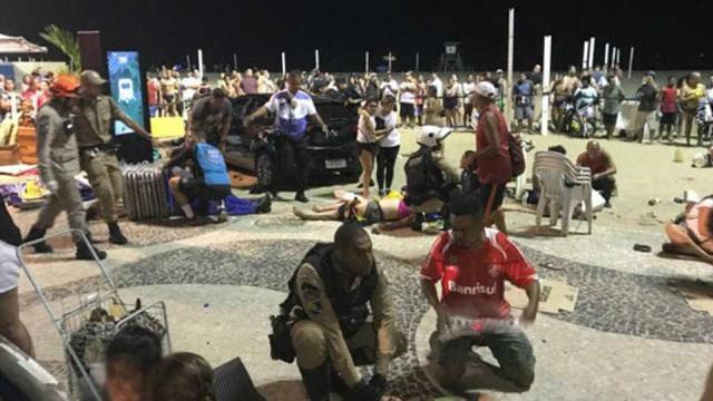 Vídeo mostra feridos em Copacabana após atropelamento; imagens fortes