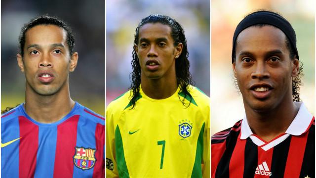 Do início até a aposentadoria: a trajetória de Ronaldinho em imagens