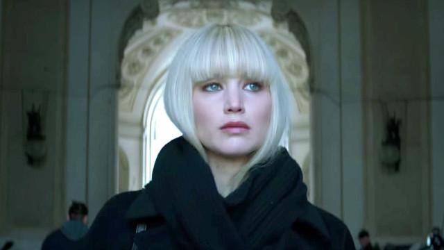 Jennifer Lawrence diz que foi 'assustador' ficar nua em 'Red Sparrow'