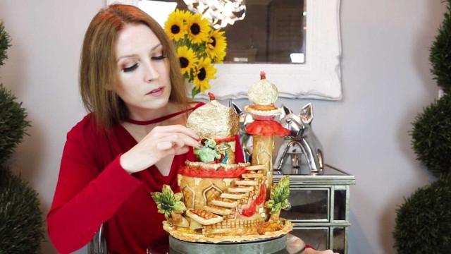 Artista cria esculturas impressionantes com massa de torta