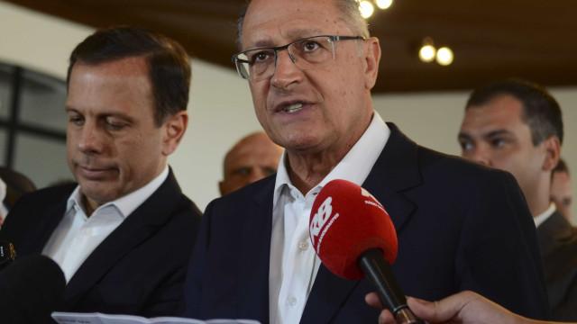 Geraldo Alckmin elogia Doria e é 'aclamado' presidente