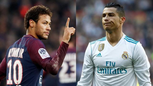 Real Madrid e PSG podem trocar Cristiano Ronaldo e Neymar, diz jornal