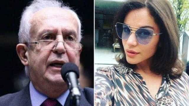 Ex-BBB vai a Portugal com suposto namorado, deputado de 75 anos