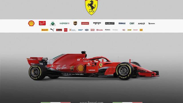 Ferrari apresenta novo carro para tentar derrubar Mercedes