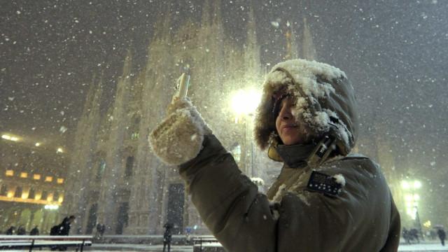 Temporais e nevascas causam transtornos na Itália