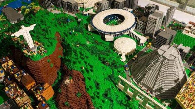 Maquete com quase um milhão de peças de lego será doada ao Rio