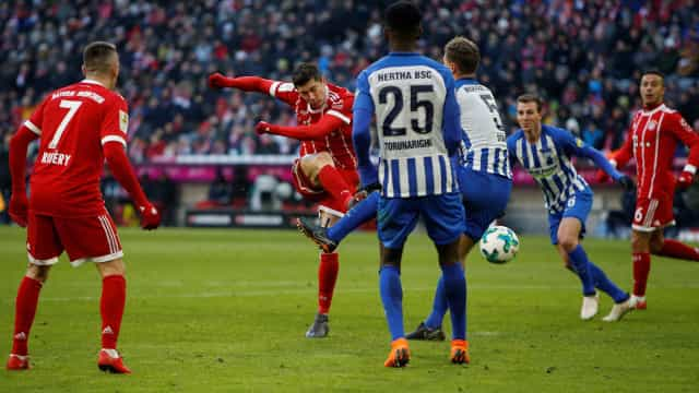Hertha segura ataque do Bayern e arranca empate por 0 a 0 fora de casa