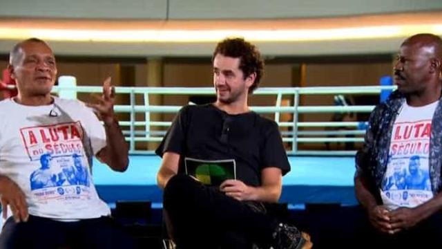 'Todo Duro' e 'Holyfield' trocam socos durante entrevista na TV
