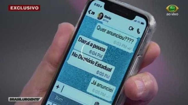Ao vivo, Datena deixa vazar celular de Doria e pede desculpas