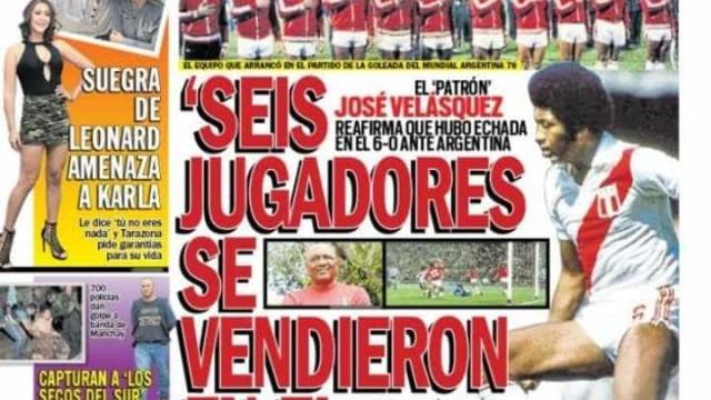 Peruano diz que ex-companheiros 'se venderam' na Copa de 1978