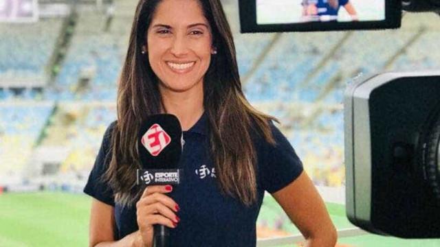 Repórter é assediada ao vivo por torcedor em jogo da Libertadores