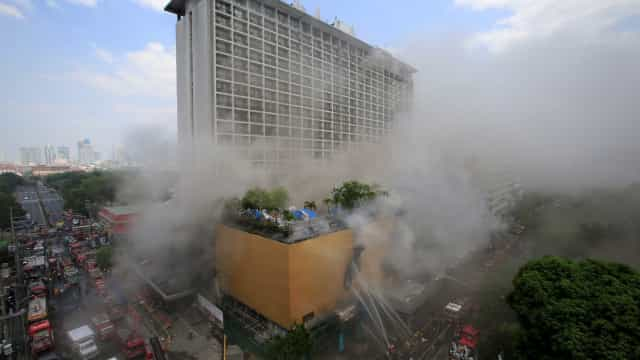 Três pessoas morrem em incêndio em hotel nas Filipinas