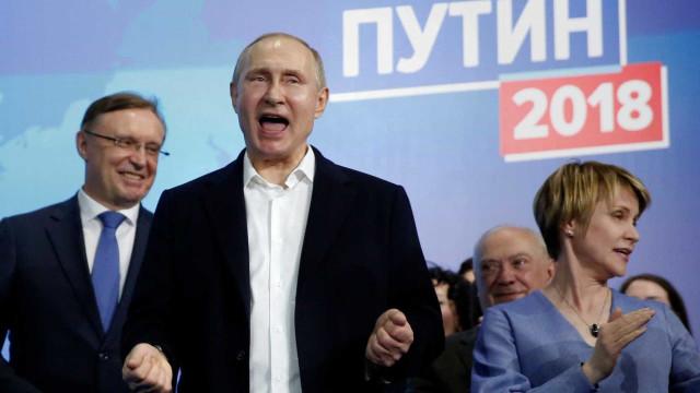 Putin conquista quarto mandato com 76,67% dos votos