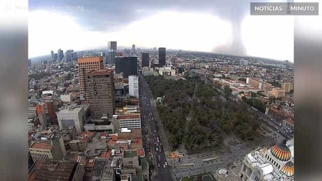 Downburst: fenômeno raro de vento atinge Cidade do México