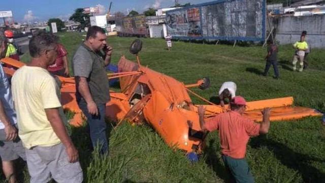 Aeronave de pequeno porte cai na Rodovia Presidente Dutra