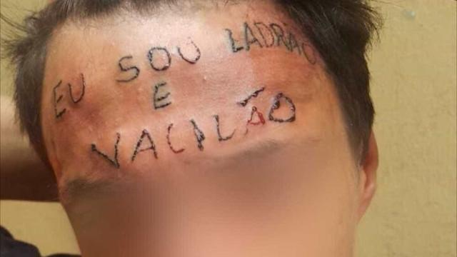 Jovem que teve testa tatuada é preso por furtar desodorantes em SP