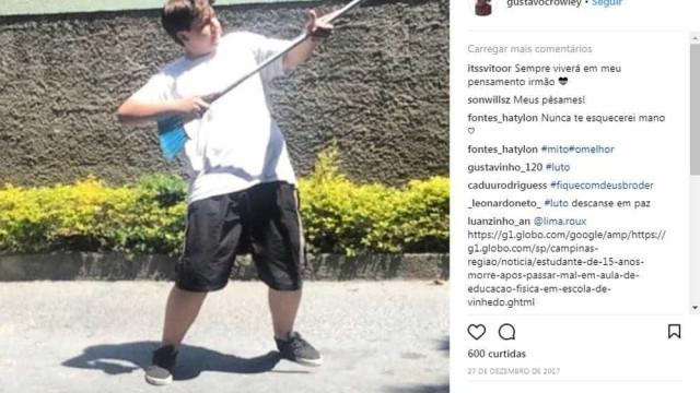 YouTuber de 15 anos morre após passar mal em aula de Educação Física