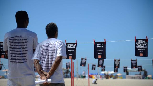 Ato lembra mais de 40 crianças mortas em tiroteios no Rio