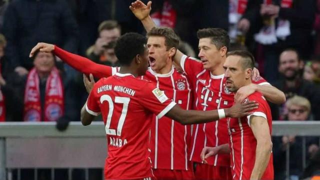 Bayernmarca 6 vezes contra o Dortmunde está a uma vitória do título