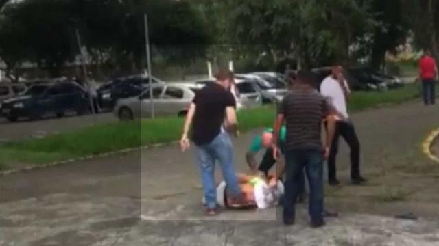 Agressor de servidor em São Paulo é preso por furto de água; assista
