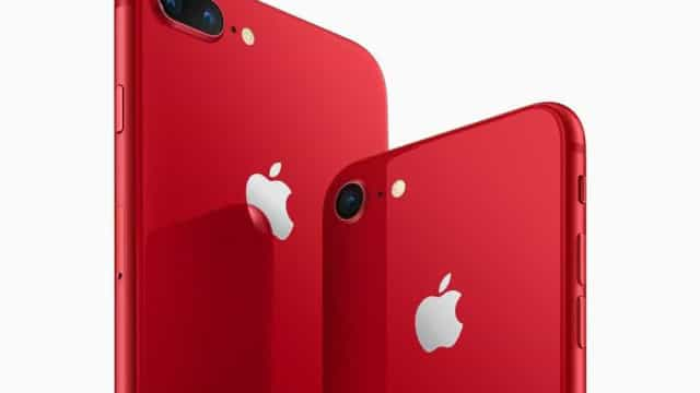 Apple anuncia iPhone 8 na cor vermelha