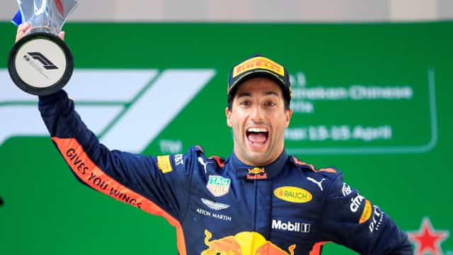 Australiano Daniel Ricciardo vence o GP da China de Formula 1