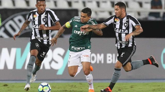 Defesa falha, e Palmeiras empata com o Botafogo fora de casa na estreia