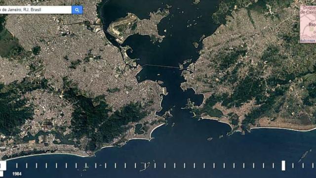 Máquina do tempo do Google Earth mostra como sua cidade cresceu