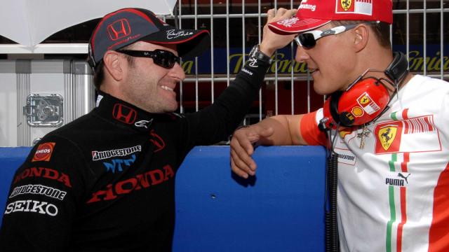 Barrichello diz desconhecer estado de saúde de Schumacher