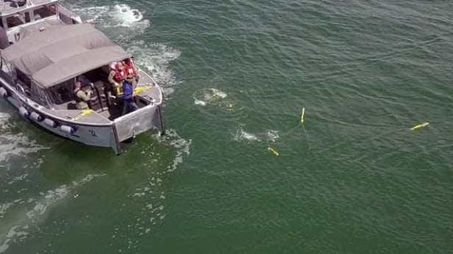Teste com drones subaquáticos é filmado nos EUA